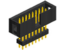 Board-To-Board Connector 1 Rows, MTMM Series 2 mm Header Pack of 50 3 Contacts Through Hole MTMM-103-09-G-S-395