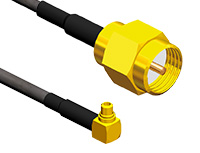 RG316 415-0073-MM750 Pack of 2 415-0073-MM750 SMA Bulkhead Jack 29.6 RF//Coaxial Cable Assembly MMCX Right Angle Plug 50 ohm
