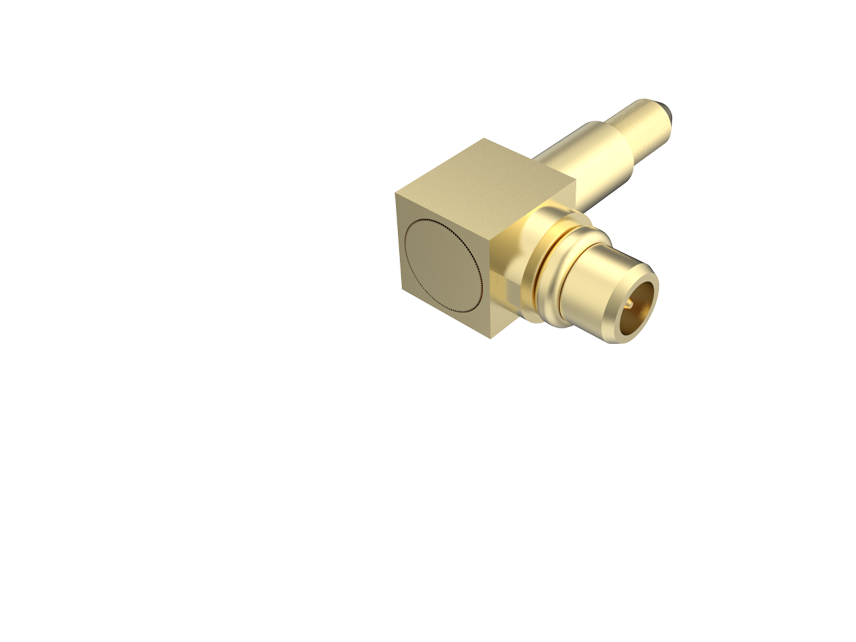 MMCX Right Angle Plug Standard Polarity